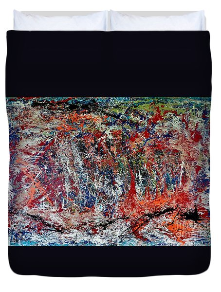 Duvet Cover featuring the painting Nature Walk In The Yakima Delta by Lisa Kaiser