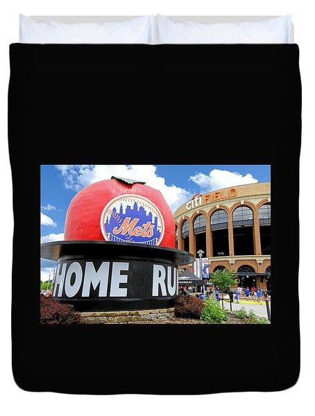 Mets Home Run Apple Duvet Cover