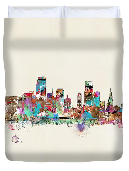 Miami Floria Skyline  Duvet Cover