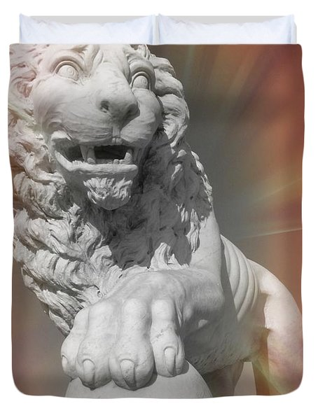 Mighty Lion Duvet Cover