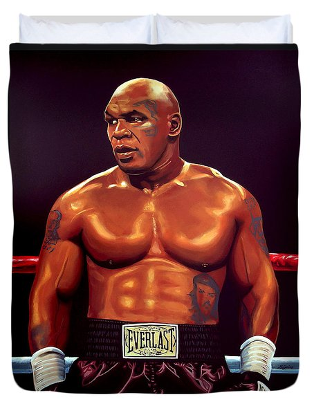 Mike Tyson Duvet Cover by Paul Meijering