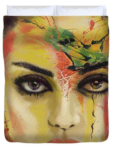 Mila Kunis  Duvet Cover by Corporate Art Task Force