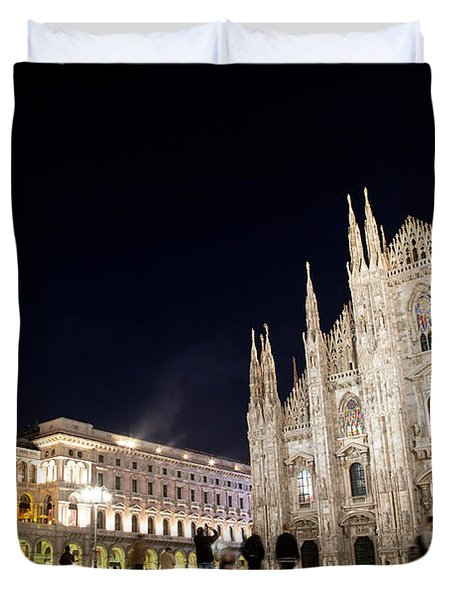 Milan Cathedral Vittorio Emanuele II Gallery Italy Duvet Cover