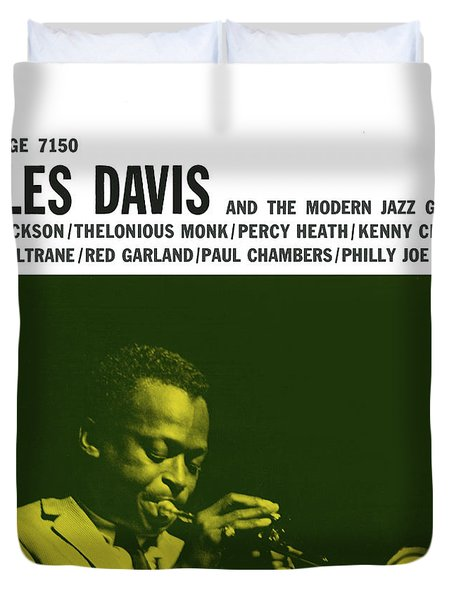 Miles Davis -  Miles Davis And The Modern Jazz Giants (prestige 7150) Duvet Cover