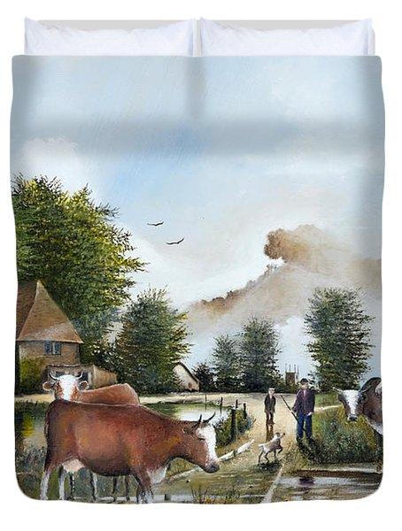 Milking Time Duvet Cover