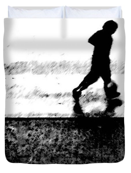 Walking In The Rain 2 Duvet Cover
