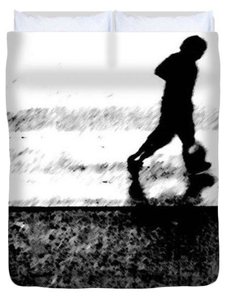 Walking In The Rain 2 Duvet Cover by Jason Michael Roust
