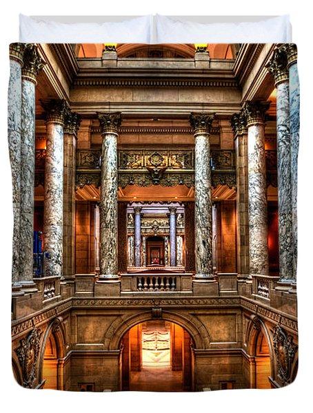 Minnesota State Capitol St Paul Duvet Cover