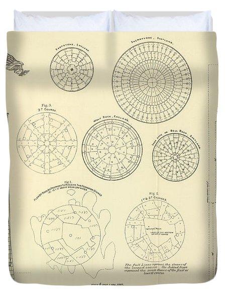 Minots Ledge Lighthouse Duvet Cover