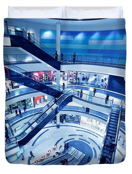 Modern Shopping Mall Interior Duvet Cover by Michal Bednarek