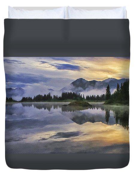 Molas Lake Sunrise Duvet Cover