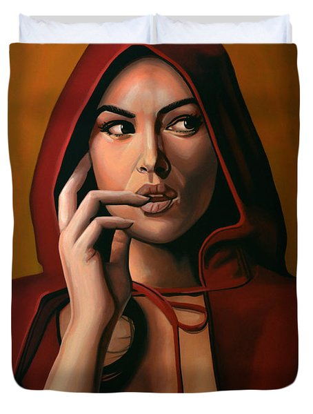Monica Bellucci Duvet Cover