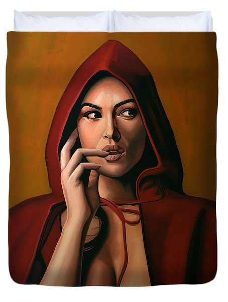 Monica Bellucci Duvet Cover by Paul Meijering