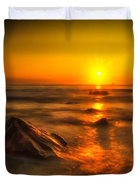 Montauk New York Summer Sunrise Duvet Cover