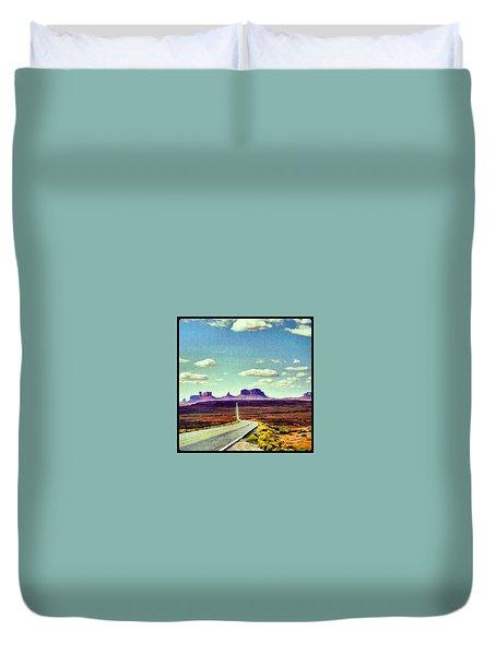 Easy Riding Thru Monument Valley Az/ut Usa Duvet Cover