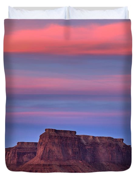 Monument Valley Sunset Duvet Cover by Alan Vance Ley