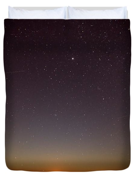Moonrise On Tybee Island Duvet Cover