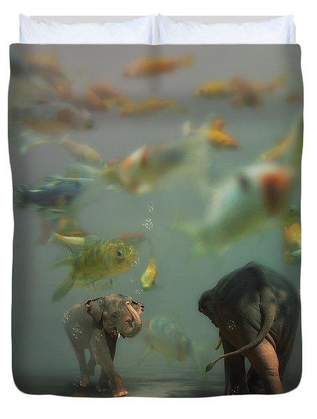 Mornin' Duvet Cover by Martine Roch