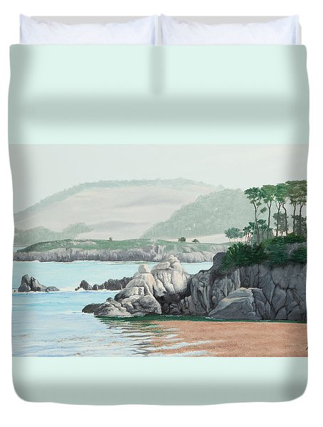Morning At Point Lobos Duvet Cover
