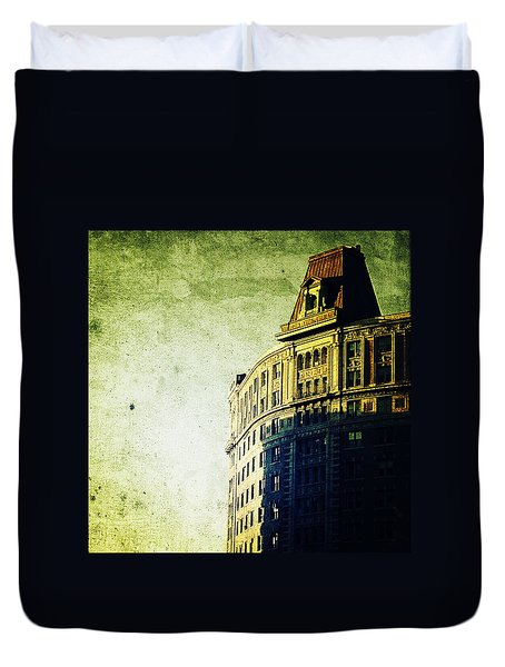 Morningside Heights Green Duvet Cover by Natasha Marco
