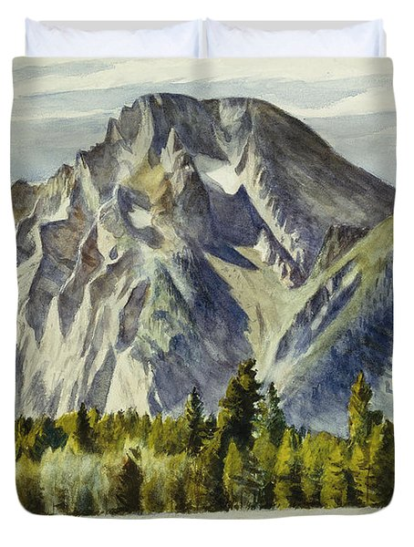Mount Moran Duvet Cover by Edward Hopper
