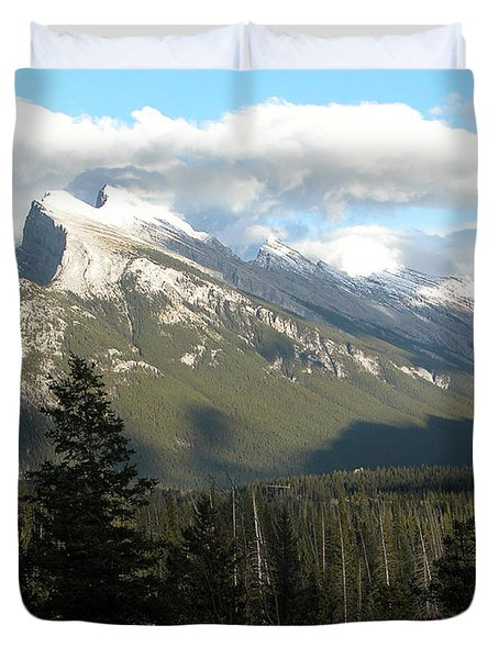 Mount Rundle Duvet Cover by Stuart Turnbull