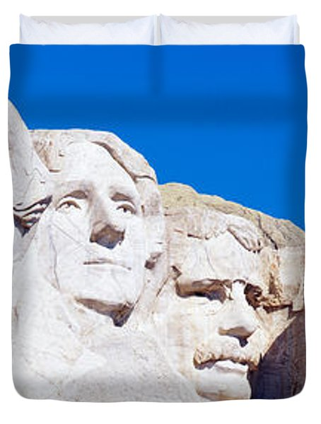 Mount Rushmore, South Dakota, Usa Duvet Cover by Panoramic Images