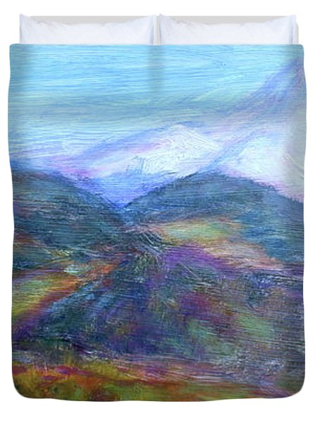 Mountain Patchwork Duvet Cover