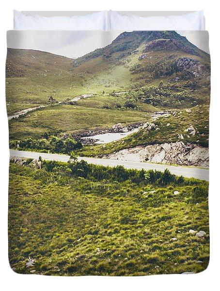 Mountain Scene In West Coast Of Tasmania Australia Duvet Cover