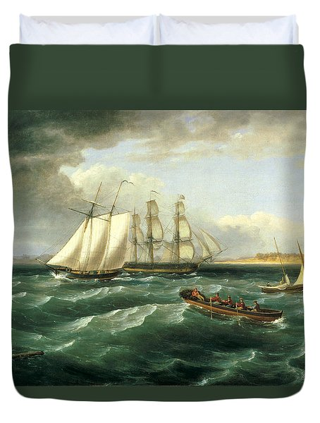 Mouth Of The Delaware Duvet Cover