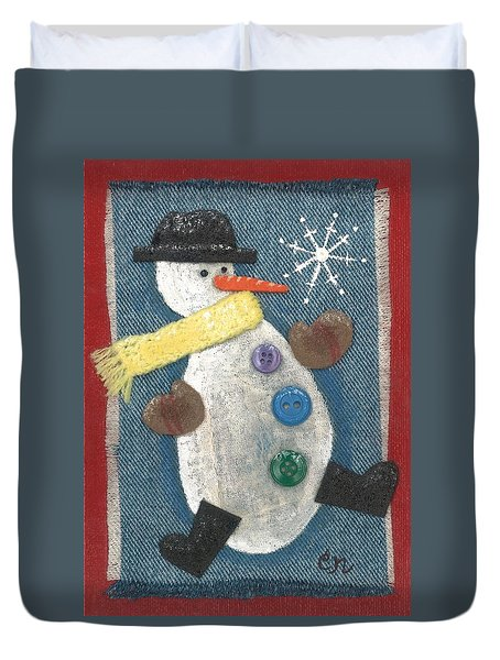 Mr. Snowjangles Duvet Cover