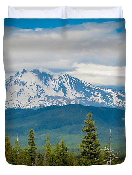 Mt. Adams From Indian Heaven Wilderness Duvet Cover