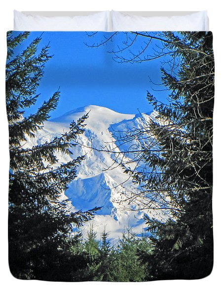 Duvet Cover featuring the photograph Mt. Rainier I by Tikvah's Hope