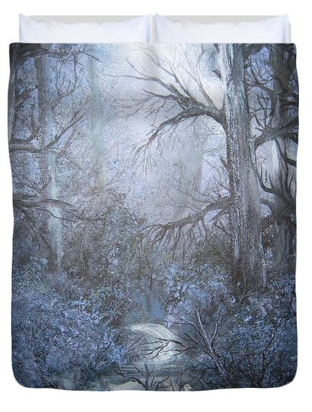 Mystery Duvet Cover by Megan Walsh