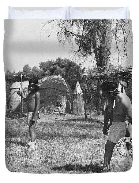 Native American Games Duvet Cover