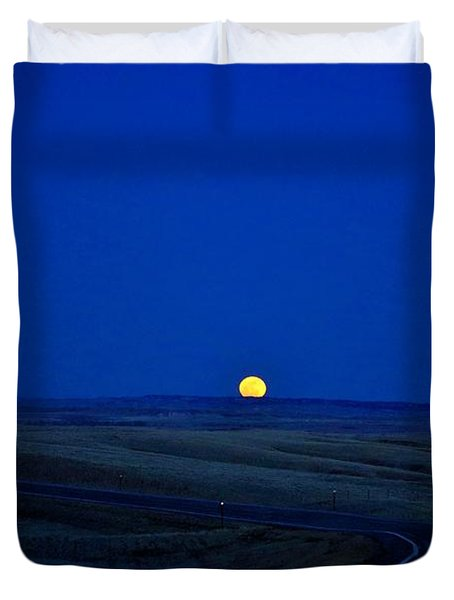 Native Moon Duvet Cover