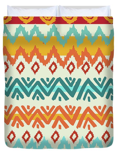 Navajo Mission Round Duvet Cover