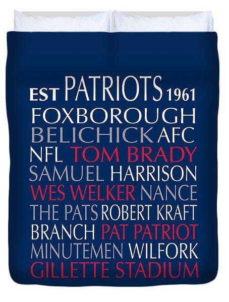 New England Patriots Duvet Cover
