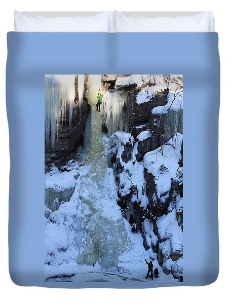 The Wintery Flume  Duvet Cover