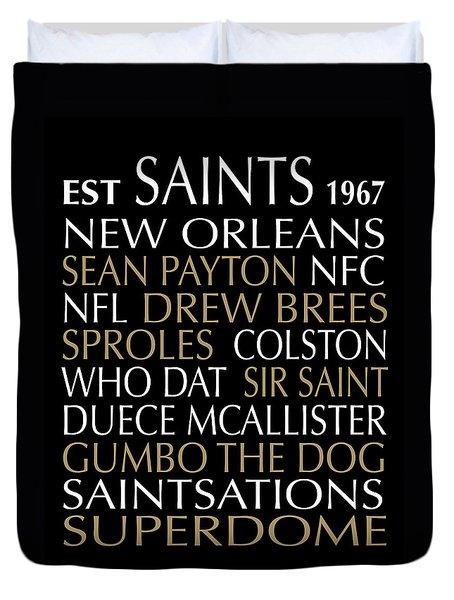 New Orleans Saints Duvet Cover