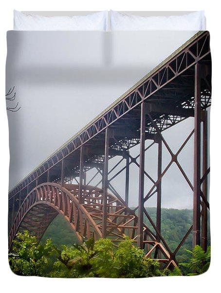 New River Bridge Duvet Cover