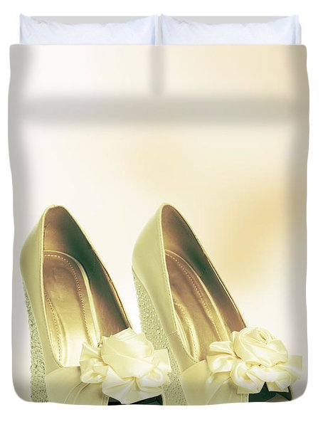New Wedding Sandals Duvet Cover