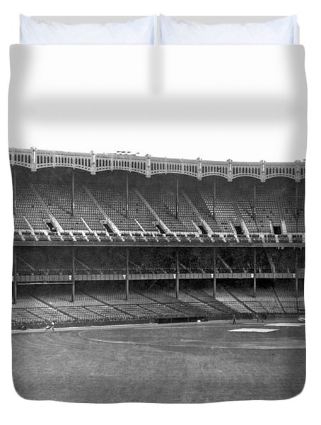New Yankee Stadium Duvet Cover by Underwood Archives