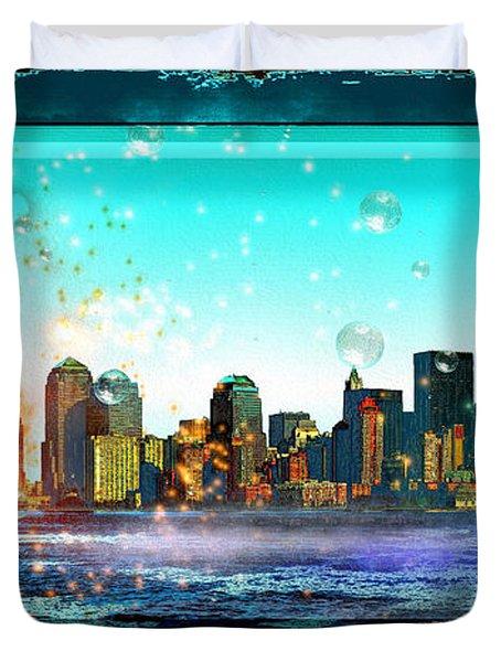 New York City Duvet Cover by Daniel Janda