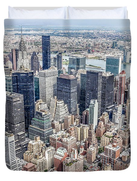 New York City From The Empire State Building Duvet Cover