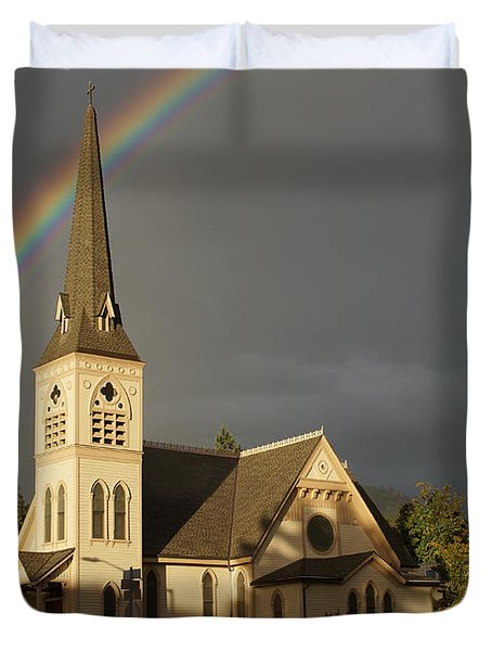 Newman United Methodist Church Duvet Cover by Mick Anderson