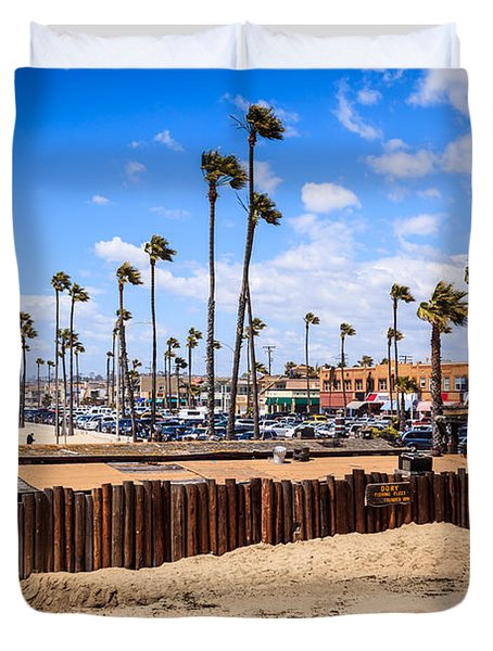 Newport Beach Dory Fishing Fleet Market Duvet Cover by Paul Velgos