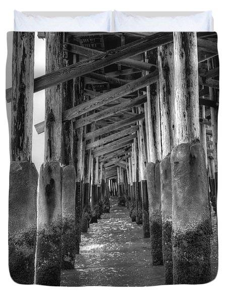 Newport Beach Pier Duvet Cover