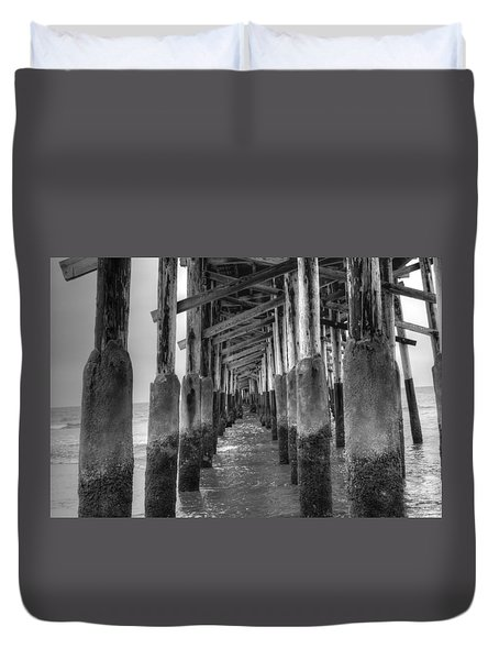Newport Beach Pier Duvet Cover