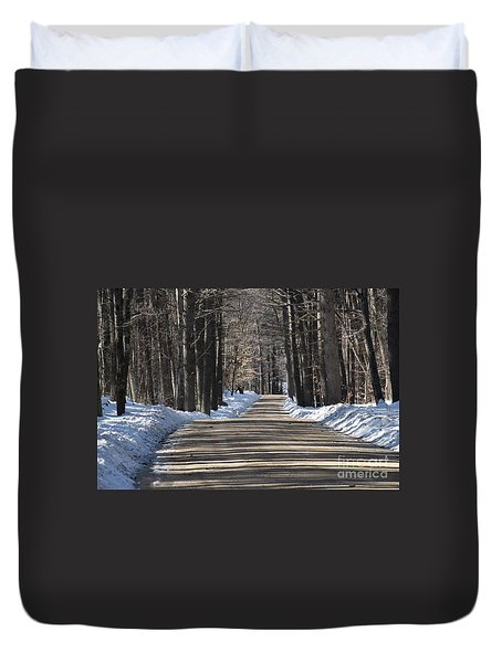Nh Back Roads Duvet Cover